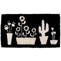 Zerbino cactus noir 70x40 cm