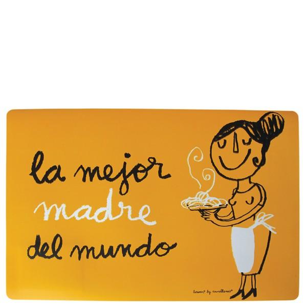 """Tovaglietta arancione """"La mejor madre del mundo"""""""