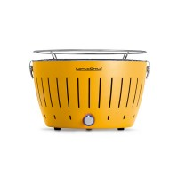 Portable charcoal barbecue yellow LotusGrill