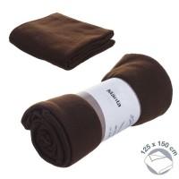 Fleece blanket chocolat brown 125 x150 cm