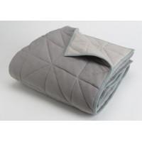 Couverture Chic gris réversible 130x170 cm