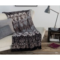 Manta plaid Antilo Kayla gris 130x170 cm
