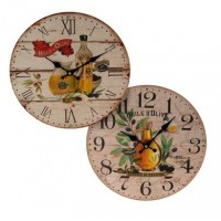 Reloj pared aceite oliva 2 diseños 34 cm