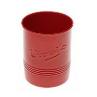 Porte-ustensile métallique rouge style vintage 12,5x15 cm