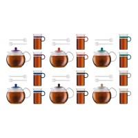 Set tetera émbolo 1 l. Assam + 2 tazas cristal 0,30 l. + 2 cucharillas 14 cm