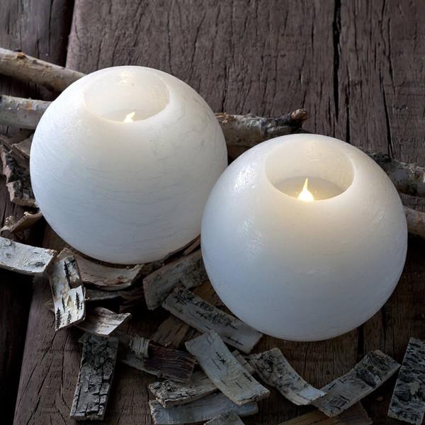 Set 2 led bianco tondo candele