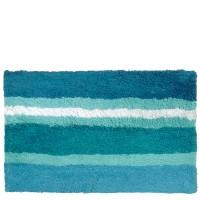 Tapis de bain bleu coups 40x60 cm