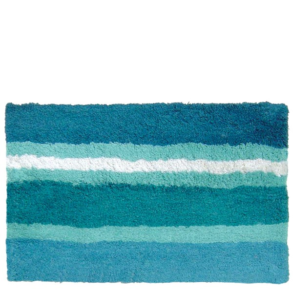 Alfombra baño Trazos Azul 40x60 cm