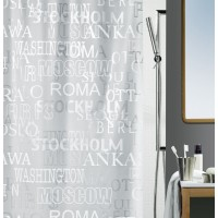 Cortina baño Peva Cities Silver 180x200 cm