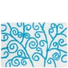 Blue bathroom rug strokes 40x60 cm