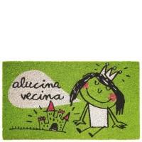 """Felpudo verde con frase """"Alucina vecina"""" 70x40cm felpudo verde laroom anna llenas"""