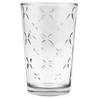 Vaso cristal con relieve flores 230ml