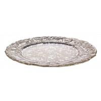 Plato centro cristal redondo con relieve Romantic 32cm