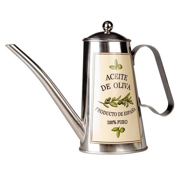 Aceitera inox Oliva 100% puro 0,5 litros