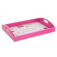 Bandeja madera rosa Gazpacho 40x28 cm