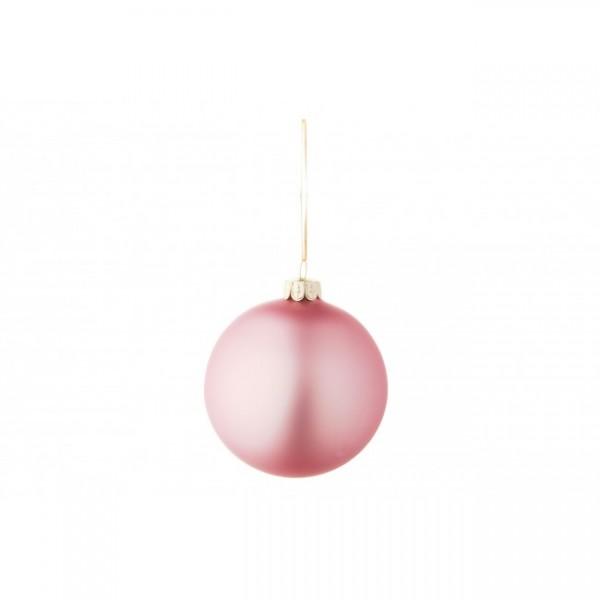 Bola árbol de Navidad cristal lisa rosa palo 6 cm