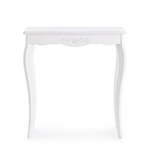 Consola mdf blanca Daisy 70x25x78 cm