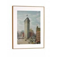 Cuadro con marco ilustración ciudad antigua Escape 53x70cm 2 modelos