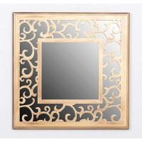 Espejo cuadrado resina Antique dorado 39,5x39,5 cm