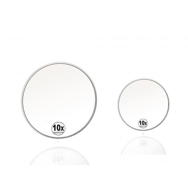 Espejo redondo con ventosas x10 aumentos 15cm