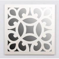 Espejo cuadrado resina champagne círculo 39,5x39,5 cm