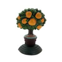 Sujetapuertas cuña hierro árbol naranjas 7x15x6 cm