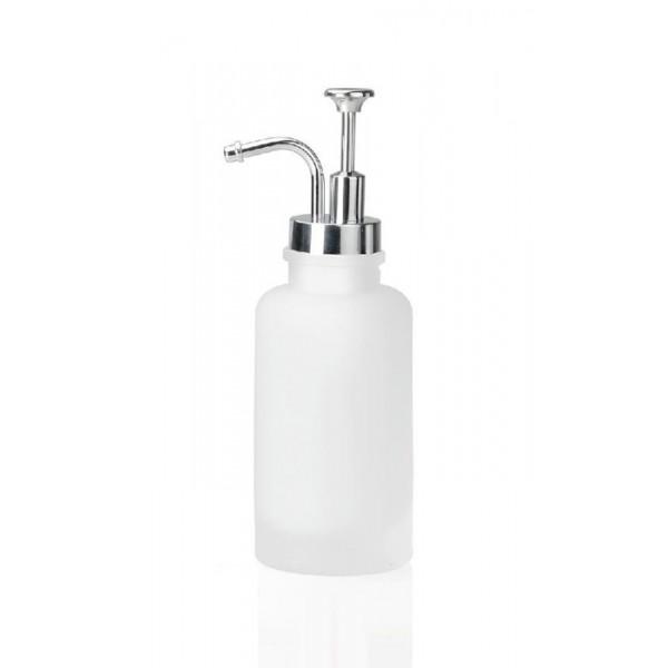 Dispensador de jabón baño cristal Frosted 7x21cm
