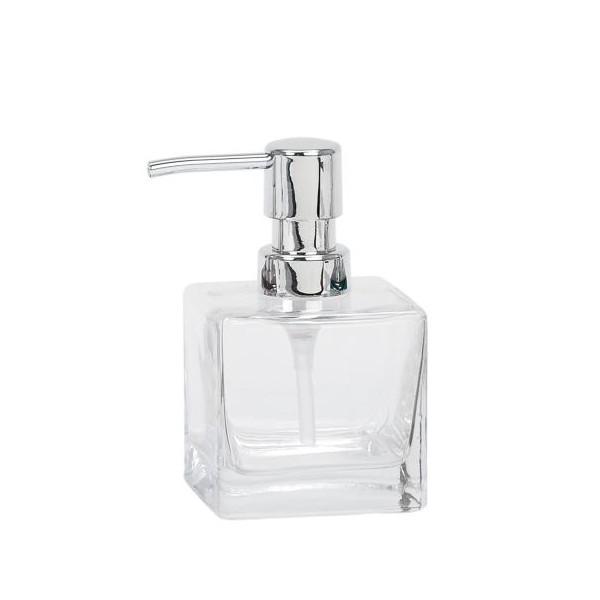 Dispensador de jabón cuadrado vidrio transparente
