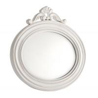 Espejo ovalado marco blanco con adorno superior 30x29cm