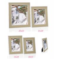 Marco fotos madera y blanco 13X18cm