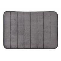 Alfombra microfibra ultra absorbente gris 40x60 cm