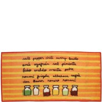 Alfombra cocina naranja botes especias 50x100 cm