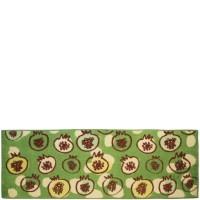Alfombra cocina verde granadas 50x140 cm