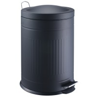 Step metal bin black 20 L