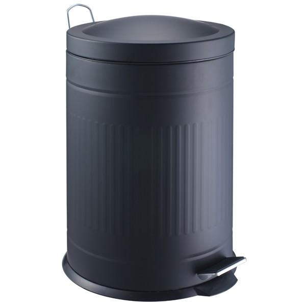 Step metal bin black 20 L