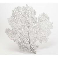 Hoja coral mágica plateada 35x37cm