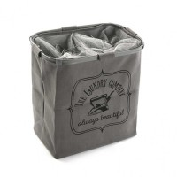 Cesto cubo doble para ropa gris The Laundry Company 50x30xh52cm