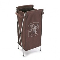 Cesto cubo para ropa marrón Enjoy Laundry 31x24xh68cm