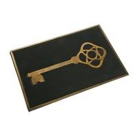 Felpudo goma de caucho dibujo llave dorada 40x60 cm
