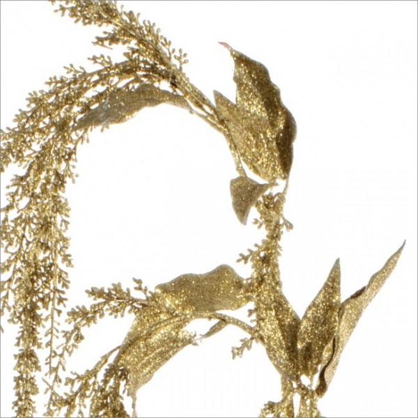 Rama navideña dorada 120 cm