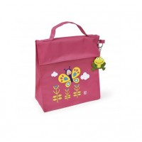Bolsa isotérmica Kinder Bag snack rico Hadas rosa con asa