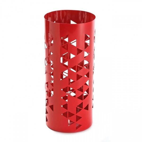 Paraguero metálico rojo Polygon 22x53cm