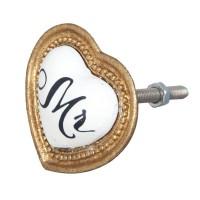 Tirador metálico forma corazón MR 5x3x4cm