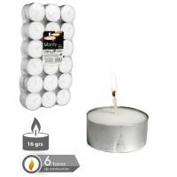 Set 36 velas tealight blanca 16gr 3,8cm