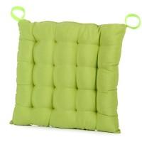 Cojín para silla cuadrado verde 45x45x7 cm
