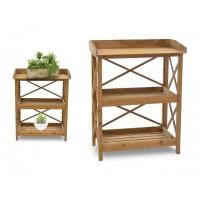 Estantería auxiliar 3 baldas madera natural 56x32x71cm