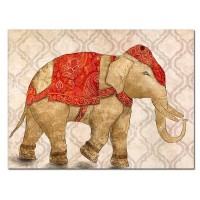 Lienzo cuadro elefante rojo o gris 80x60cm 2 modelos