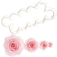 Cortador plástico fondant La rosa más fácil del mundo
