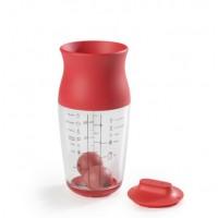 Coctelera para masas Lekue 700ml rojo