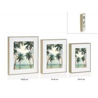 Marco fotos exterior madera y blanco 13x18cm